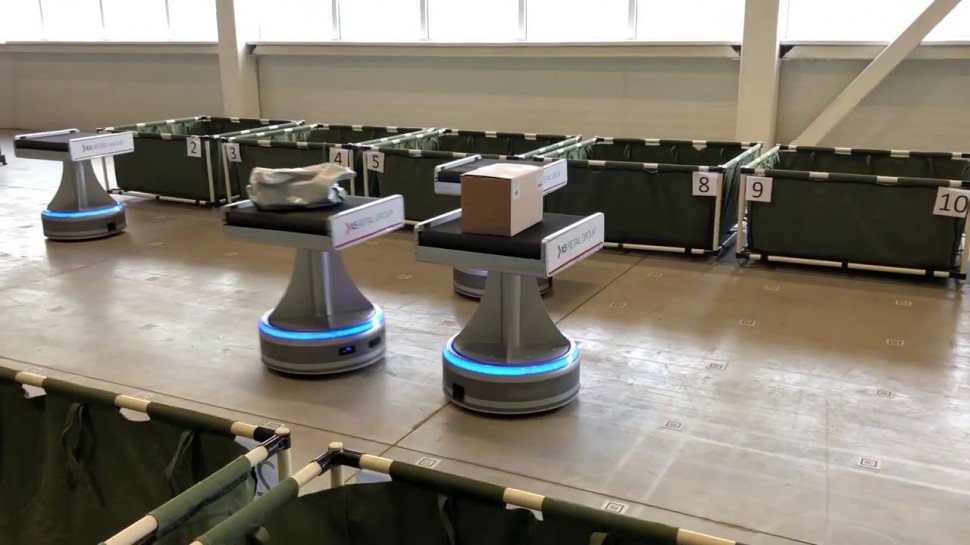 SkladcomTV: Роботы на складе X5 Retail Group! Доставка для e-commerce! X5 ОМНИ
