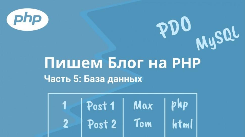 PHP: Пишем Блог на PHP. Часть 5: MySQL и Post Mapper - видео
