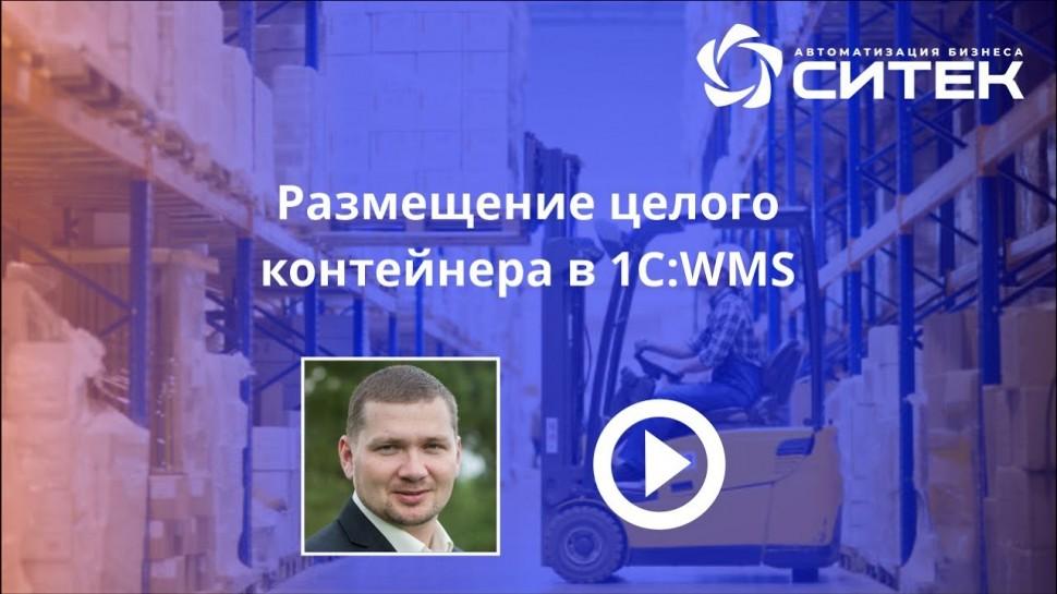 СИТЕК WMS: Размещение целого контейнера в 1С:WMS - видео
