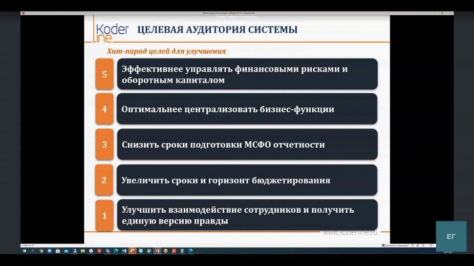 """Кодерлайн Корп: вебинар «Повышение эффективности Вашего бизнеса с помощью """"1С:Управление холдингом 8"""