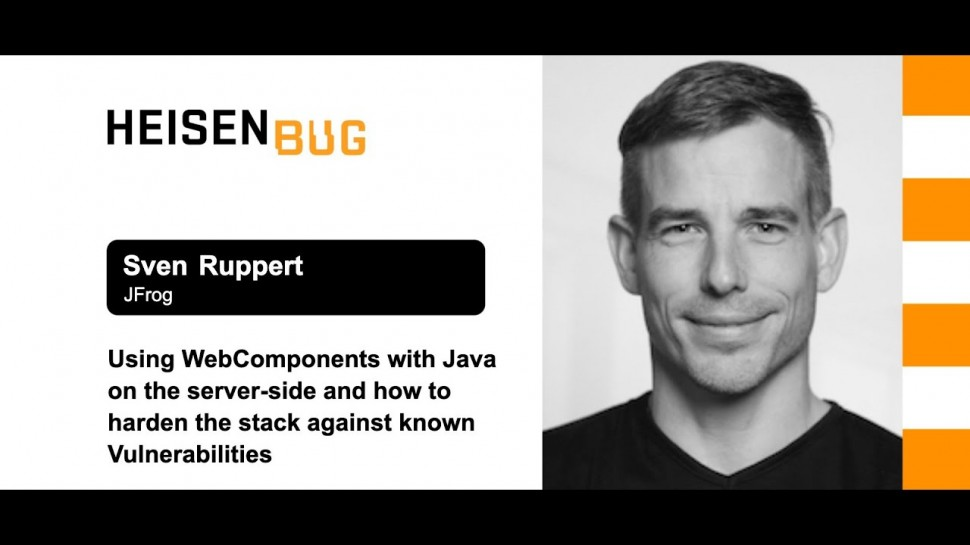Heisenbug: Sven Ruppert — Using WebComponents with Java on the server-side - видео