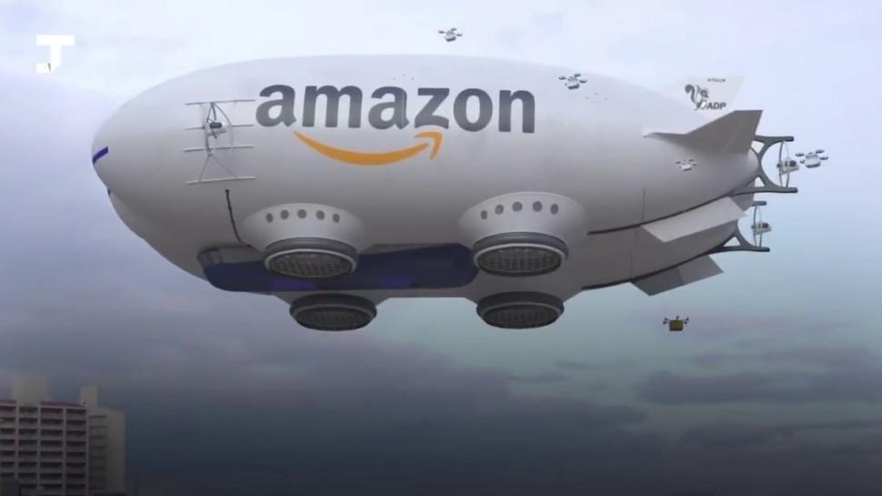 SkladcomTV: Дирижабль Amazon с летающими дронами! Будущее логистики E-COMMERCE!