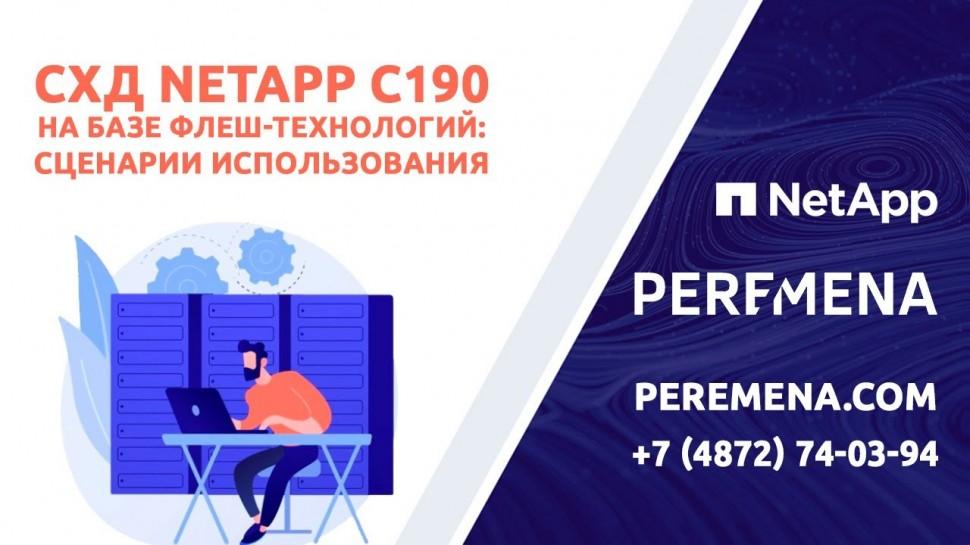 ГК Перемена: Система хранения NetApp C190 корпоративного класса на базе флеш-технологий по доступной