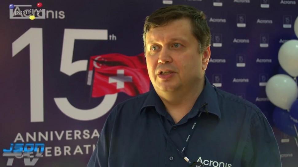 JsonTV: Андрей Крючков, Acronis: Мероприятия в честь 15-летия компании