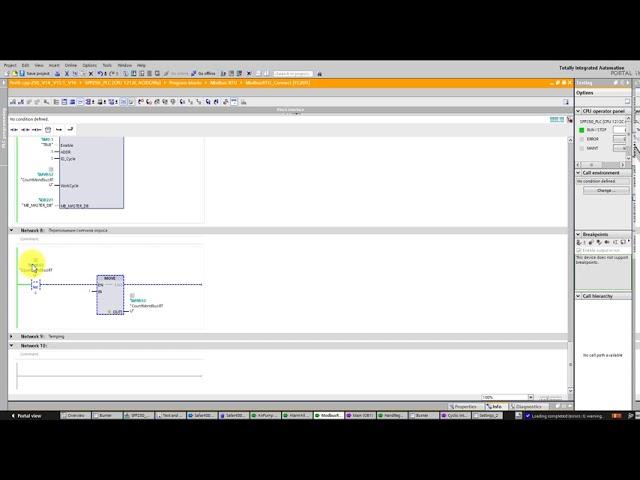 АСУ ТП: TIA Portal - опрос устройств поModbus RTU продолжение - видео