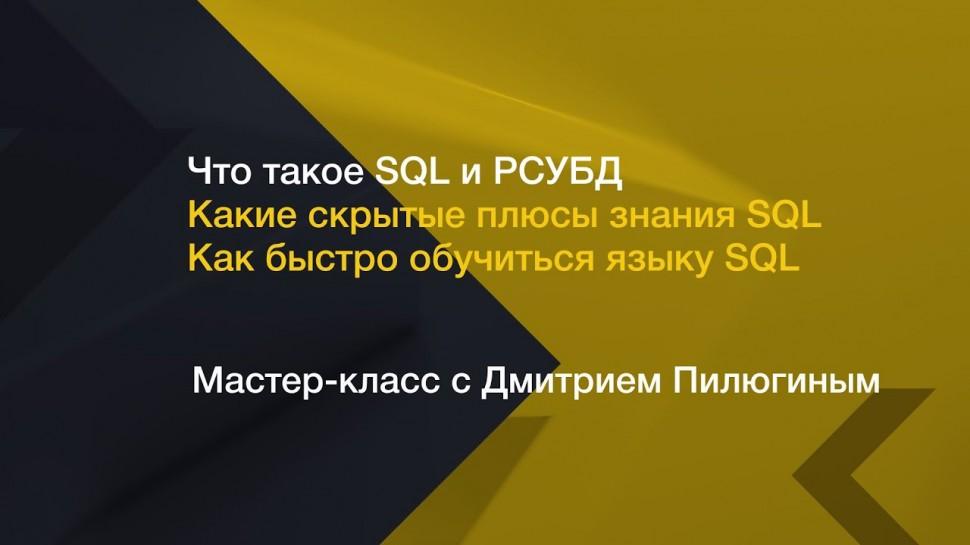 IQBI: Что такое SQL и РСУБД // Какие скрытые плюсы знания SQL // Как быстро обучиться языку SQL // -