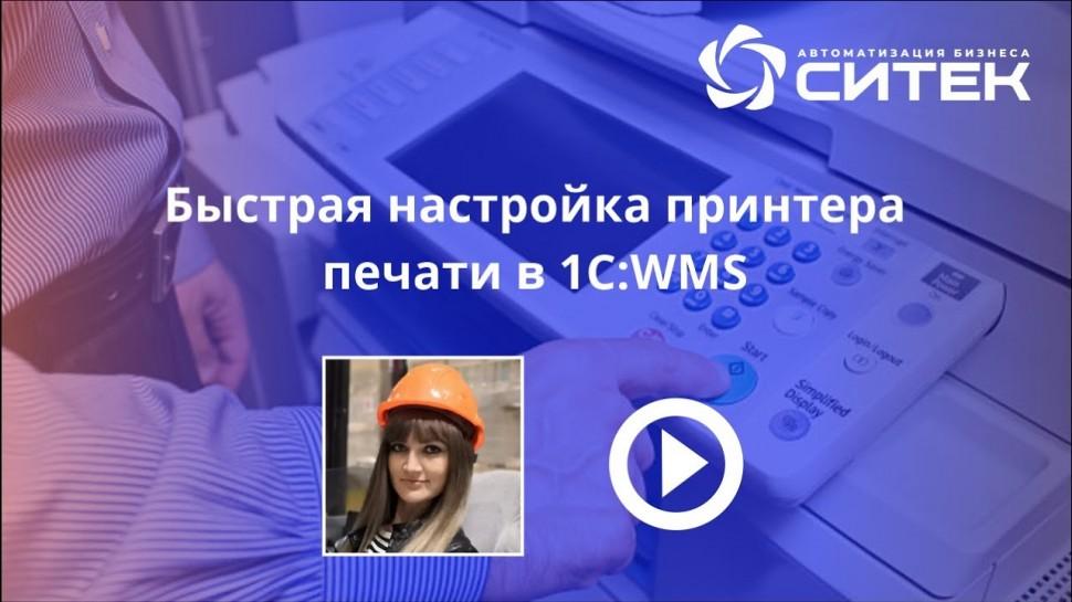 СИТЕК WMS: Быстрая настройка печати принтера в 1С:WMS - видео