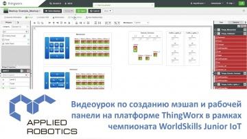 Разработка iot: Видеоурок по созданию мэшап и рабочей панели на платформе ThingWorx в рамках WorldSk
