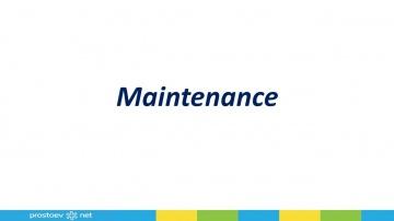 Maintenance (воздействие) - видеоуроки Простоев.НЕТ - Простоев.НЕТ