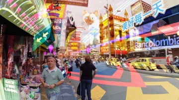 Hyper-Reality presents a provocative and kaleidoscopic new vision of the futur