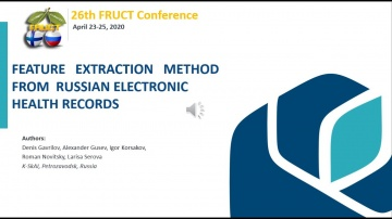 FRUCT26: Feature Extraction Method From Electronic Health Records in Russia