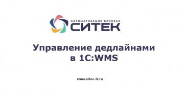 """СИТЕК WMS: Вебинар """"Управление дедлайнами в 1С:WMS"""" - видео"""