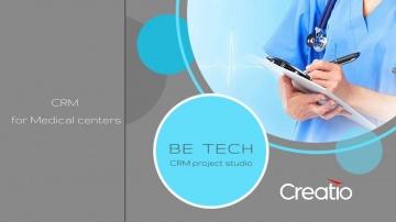 Be Tech: Medicine Creatio - CRM для автоматизации работы медицинской клиники. - видео