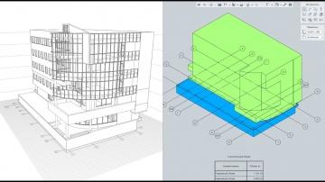 Renga BIM: Renga. Моделируем строительный объем здания одним телом - видео