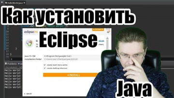 J: Как скачать и установить Eclipse на Windows / Уроки Java - видео