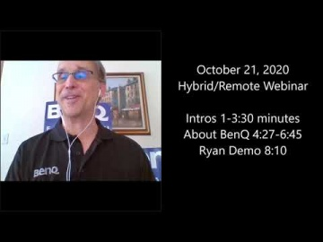 DLP: BenQ Hybrid Classroom remote learning Webinar from 10/21/2020 - видео