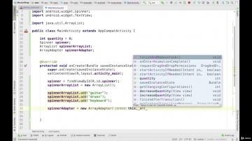 J: 4.5.1. Изучаем Java. Spinner . Android разработка на Kotlin - с нуля - видео
