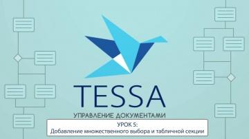 СЭД TESSA: Урок 5- Добавление множественного выбора и табличной секции