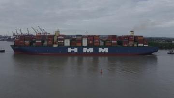 SkladcomTV: HMM Algeciras сделал пробный заплыв из Пусана через Китай до Гамбурга, куда прибыл 7 июн