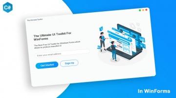 C#: The Free Ultimate UI Design Tool for Windows Forms | C# Tutorial - видео