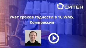 СИТЕК WMS: Учет сроков годности в 1C WMS. Компрессия - видео