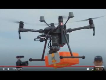 SkladcomTV: В порт Роттердама впервые небольшой груз доставлен на судно с помощью летающего дрона!