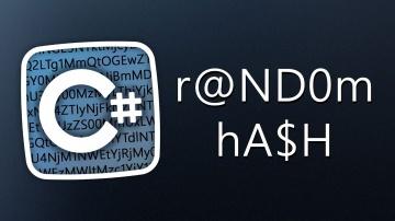 C#: Уроки C# – Рандомный хэш – Random Hash - видео