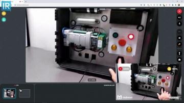SCADA: Сервис дистанционных инструкций Vuforia Chalk для AR очков Realware - видео