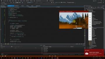 C#: Создание игры на C# Xamarin Android SurfaceView 2D Game tutorial part 3 в Visual Studio 2019 час
