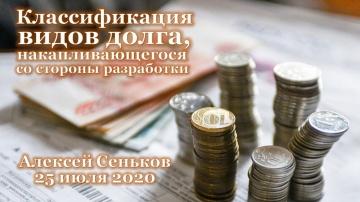 Классификация видов долга, накапливающегося со стороны разработки / Алексей Сеньков