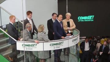 SkladcomTV: Премьер-министр Ирландии на открытии завода Combilift! Складская техника для нестандартн