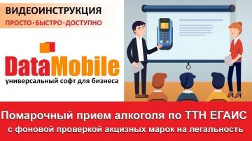 СКАНПОРТ: DataMobile: Урок №15. Помарочный прием алкоголя по ТТН ЕГАИС 3.0