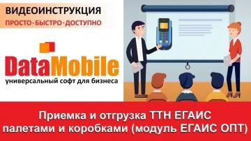 СКАНПОРТ: DataMobile: Урок №16. Приемка и отгрузка ТТН ЕГАИС 3.0 палетами и коробками