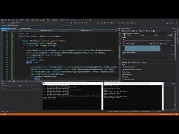 C#: C# Client/Server WebSocket Application in ASP.Net Core | Visual Studio - видео