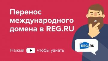 REG.RU: Перенос международного домена в REG.RU