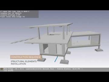 BIM: Последовательность строительства и сметная стоимость коттеджа (4D и 5D BIM) - видео