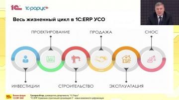 1С-Рарус: 1С:ERP Управление строительной организацией 2 - новые возможности цифровизации - видео