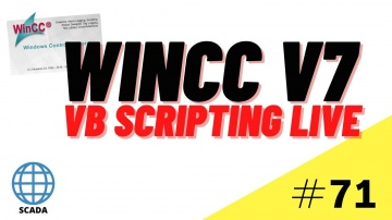 SCADA: WinCC SCADA VB Scripting Course: Live scripting Tutorial #71 - видео