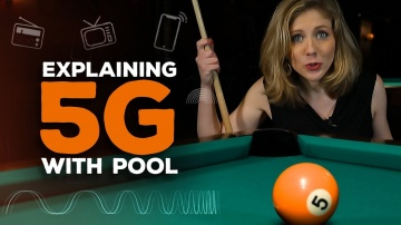 CNET: 5G explained with billiards and darts | Bridget Breaks It Down