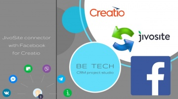 Be Tech: JivoSite синхронизация с Facebook и CRM Creatio - видео