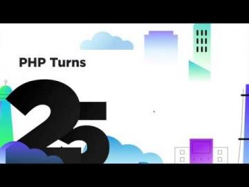 25 лет PHP - история развития в наглядной инфографике - видео